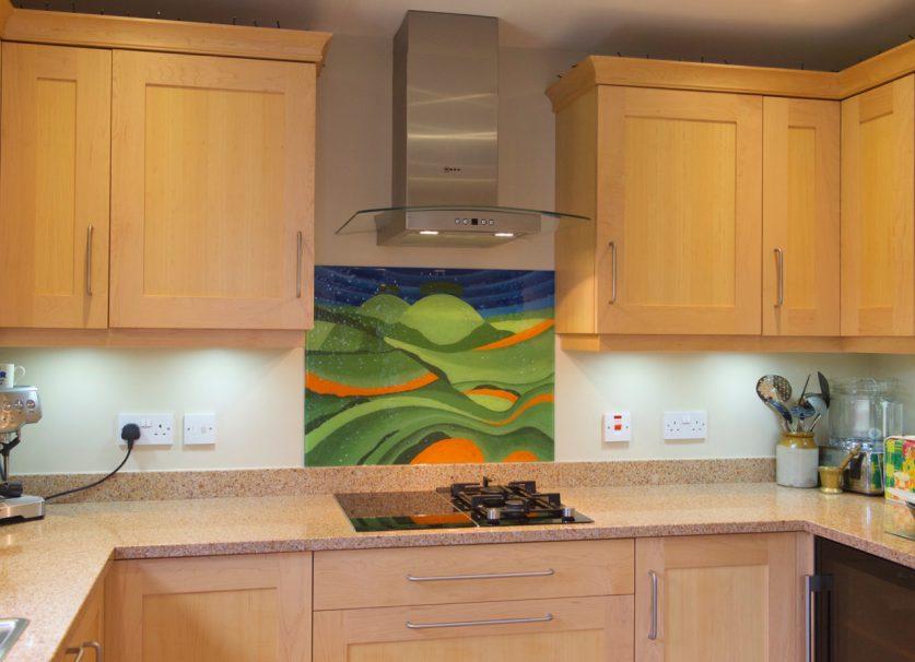 Art painting kitchen splashback
