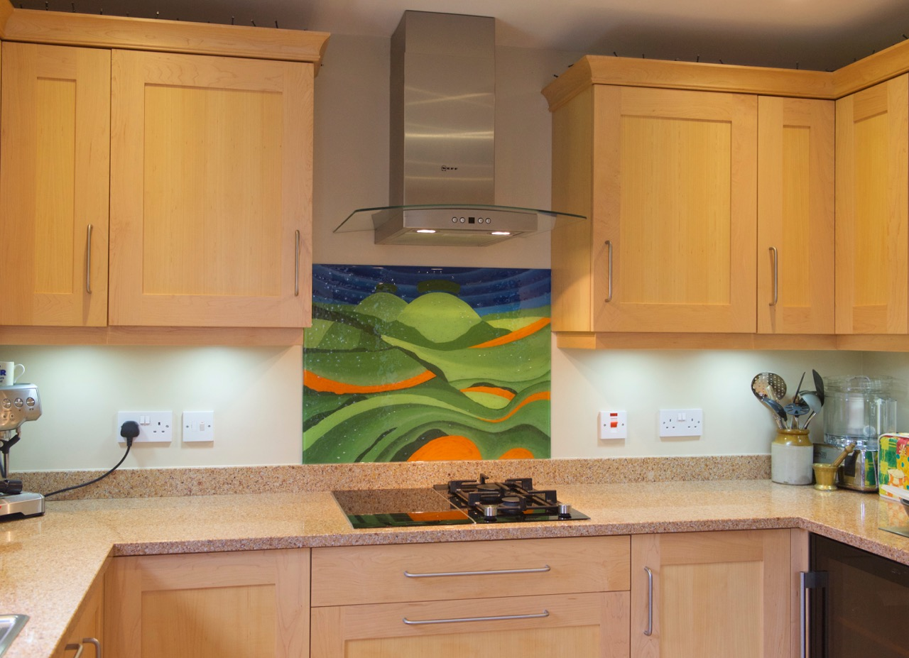 Art painting kitchen splashback