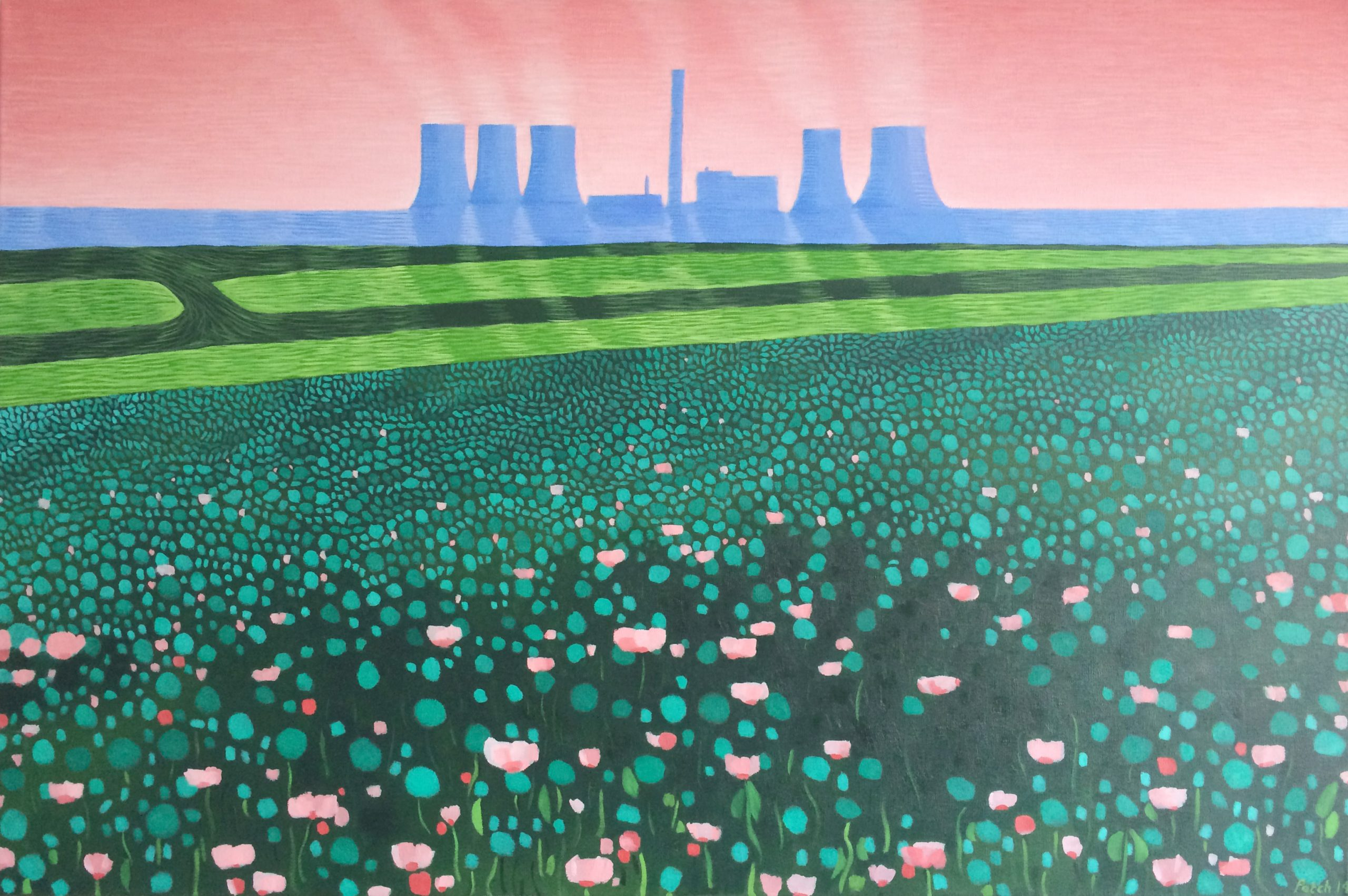 Didcot Power Station spring mist