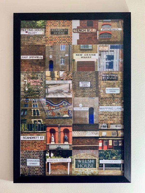 Wapping street signs print