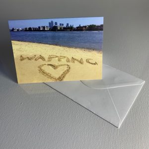 Love Wapping Beach - greeting card