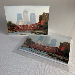 Wapping - canary wharf - milk yard - greeting card