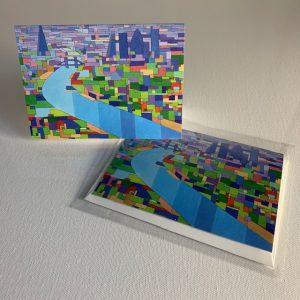 Wapping tower bridge sunrise - greeting card
