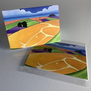 White horse hill - greeting card
