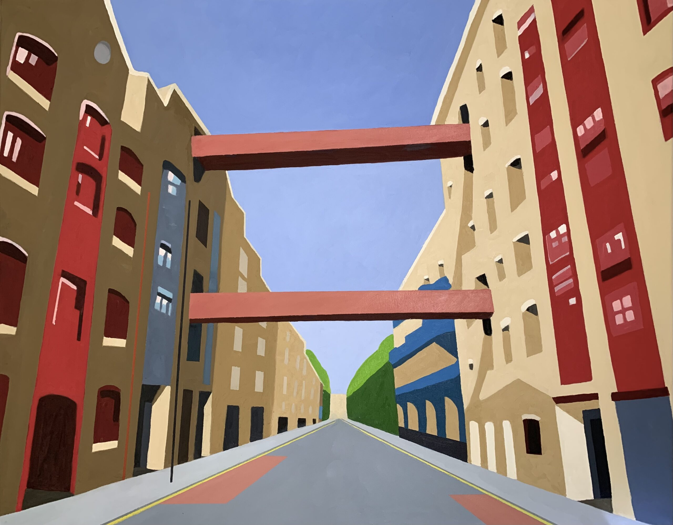 Wapping High Street Warehouse painting